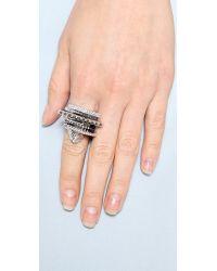 Eddie Borgo | Metallic Tuareg Ring Set - Silver | Lyst