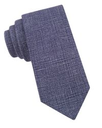 Ted Baker | Blue Textured Cotton Tie for Men | Lyst