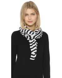 Kate Spade | Blue Painterly Bow Oblong Scarf | Lyst