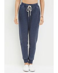 Forever 21   Blue Heathered Drawstring Sweatpants   Lyst