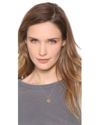 Sarah Chloe - Metallic Eva Engraved Pendant Necklace - F - Lyst