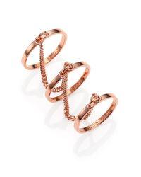 Eddie Borgo | Pink Three-Finger Ring Set | Lyst