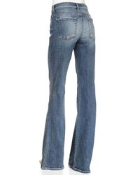 7 For All Mankind - Blue High-waisted Vintage Boot-cut Jeans - Lyst