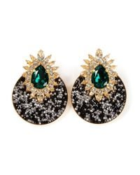 Shourouk | Black 'luna' Clip-on Earrings | Lyst