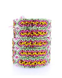 Doloris Petunia | Multicolor Swarovski Crystal Friendship Bracelet, Cactus Flower | Lyst