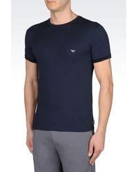 Emporio Armani - Blue Undershirt for Men - Lyst