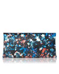 L.K.Bennett | Blue Flo Curved Envelope Clutch | Lyst