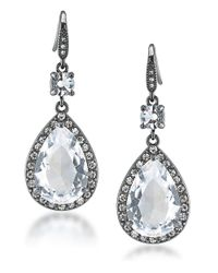 Carolee | Metallic Phantom Cubic Zirconia Teardrop Earrings | Lyst