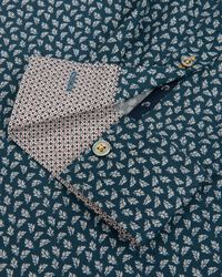 Ted Baker | Blue Scatter Leaf Print Shirt for Men | Lyst