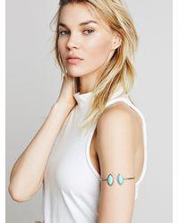 Free People - Blue Womens Stone Wrap Armband - Lyst