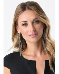 Bebe - Multicolor Crystal Duster Earrings - Lyst