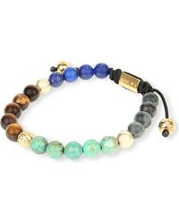 Nialaya | Multicolor 14ct Tiger Eye, Lapis, Turquoise, Jade Beaded Bracelet | Lyst