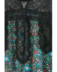 Anna Sui - Multicolor Silk Blouse With Lace - Florals - Lyst