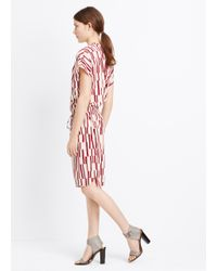 Vince - Red Piano Print Silk Dress - Lyst