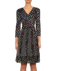 Diane von Furstenberg | Multicolor Caprice Silk-Jersey Dress | Lyst