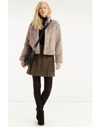 Oasis - Natural Short Fur Coat - Lyst
