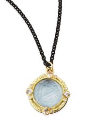 Armenta | Old World Kyanite & White Quartz Pendant Necklace With Diamonds for Men | Lyst