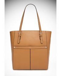 Forever 21 | Natural Faux Leather Tote Bag | Lyst
