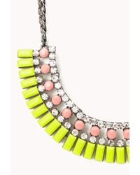 Forever 21 - Yellow Neon Pop Fringed Bib - Lyst