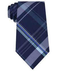 Michael Kors | Blue Michael Parliamentarian Plaid Tie for Men | Lyst