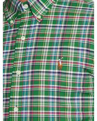 Polo Ralph Lauren Green Slim-fit Check-print Shirt for men