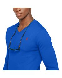 Polo Ralph Lauren - Blue Slim-fit Pima Cotton Sweater for Men - Lyst