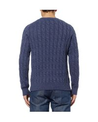 Gucci - Blue Appliquéd Wool Sweater for Men - Lyst