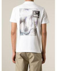Iceberg - White Floral-Print Polo Shirt for Men - Lyst
