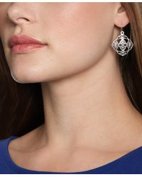 Brooks Brothers | Metallic Silver Filigree Drop Earrings | Lyst