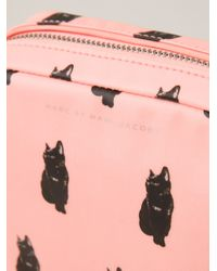 Marc By Marc Jacobs - Pink Cat Print Cosmetics Case - Lyst