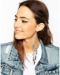 ASOS | Black Single Festival Earring | Lyst