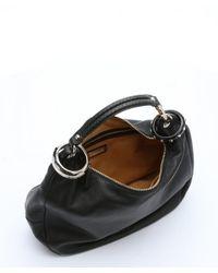 Jimmy Choo - Black Leather Small 'solar' Hobo Bag - Lyst