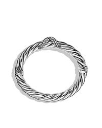 David Yurman | Metallic X Collection Wide Bracelet With Diamonds | Lyst