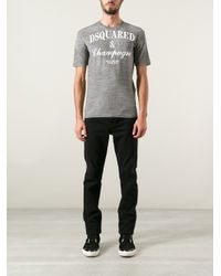 DSquared² | Gray Champagne Tshirt for Men | Lyst