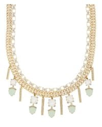 Henri Bendel - Green Duchess Gem Collar - Lyst