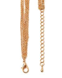 Forever 21 - Metallic Layered Rhinestone Necklace - Lyst