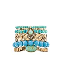 Samantha Wills - Blue World Of Wonderlust Bracelet Set - Lyst
