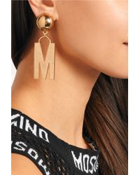Moschino | Metallic Gold-plated Clip Earrings | Lyst