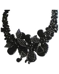 Aeravida | Black Agate & Black Onyx Floral Bouquet Motif Necklace | Lyst