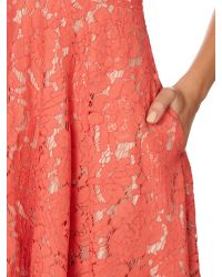Eliza J | Pink Fit And Flare Lace Dress | Lyst