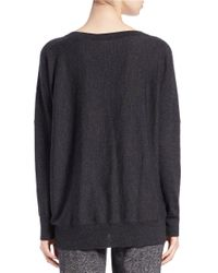 Eileen Fisher | Gray Petite Merino Wool Ballet-neck Sweater | Lyst