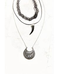 Urban Outfitters | Metallic Millie Tooth Necklace Set | Lyst