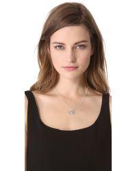 Helen Ficalora - Metallic Cutout Heart Charm - Silver - Lyst