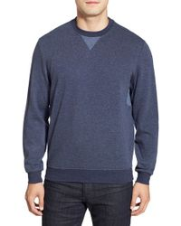 Bugatchi | Blue Long Sleeve Knit Sweatshirt for Men | Lyst