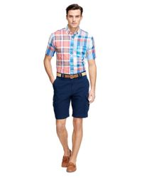 "Brooks Brothers | Blue 10"" Cargo Shorts for Men 