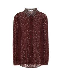 Carven - Purple Lace Shirt - Lyst
