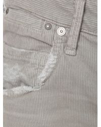 Citizens of Humanity - Gray Corduroy Skinny Trousers - Lyst