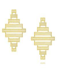 Arme De L'Amour   Metallic Stripe Earrings   Lyst
