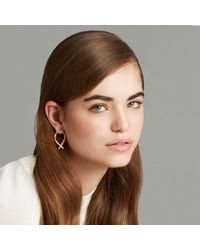 Trademark | Metallic Wishbone Small Hoops | Lyst