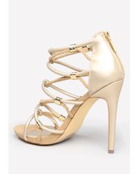 Bebe | Metallic Sandrra Rope Sandals | Lyst
